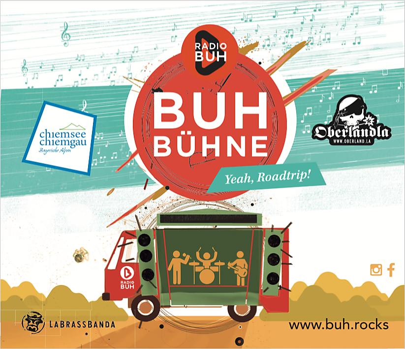 BUH BÜHNE 2017 mit Sponsoren: Chiemgau Tourismus & Oberlandla